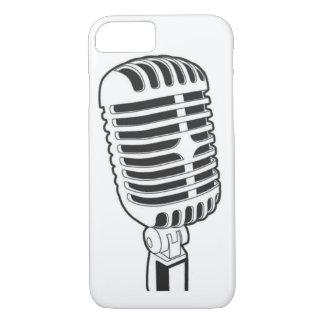 iPhone 7の場合は、レトロの50年代マイクロフォンを冷却します iPhone 8/7ケース