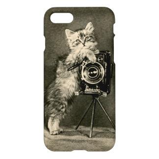 iPhone 7の場合猫のカメラマン箱のブラウニーのカメラ iPhone 8/7 ケース