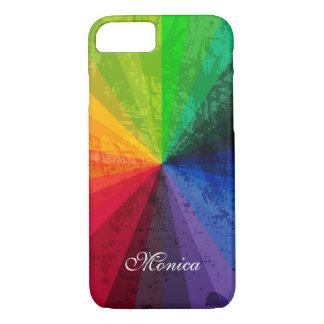 iPhone 7の場合|の虹は名前入りな|を縞で飾ります iPhone 8/7ケース