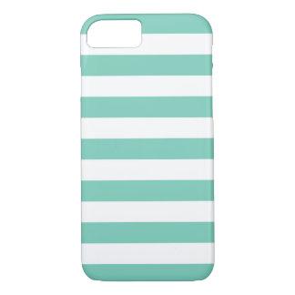 iPhone 7の場合-はっきりしたなターコイズは縞で飾ります iPhone 8/7ケース