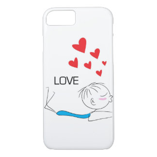 iPhone 7の場合-カップルのキス(男の子) iPhone 8/7ケース