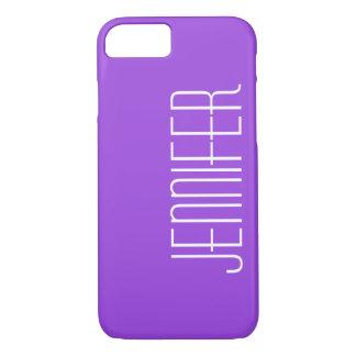 iPhone 7の場合、名前入りな紫色 iPhone 8/7ケース