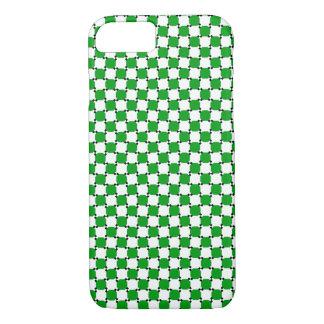 iPhone 7の場合-目の錯覚の場合の緑か白 iPhone 8/7ケース