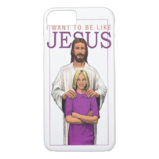 iPhone 7の場合-私はイエス・キリスト女性のようでありたいと思います iPhone 8/7ケース