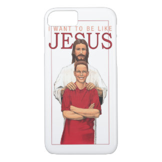 iPhone 7の場合-私はイエス・キリスト男性のようでありたいと思います iPhone 8/7ケース