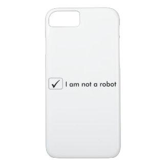 iPhone 7の場合-私はロボットではないです-白 iPhone 8/7ケース