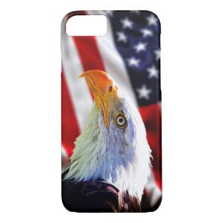 iPhone 7の場合-米国旗の白頭鷲 iPhone 8/7ケース