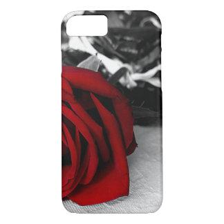 iPhone 7/6Plus、iPadまたは空気または小型場合の赤いバラB/W iPhone 8/7ケース