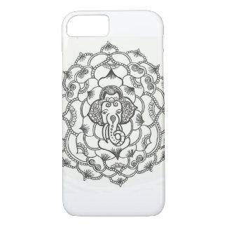 iPhone 7 /6sのための象の曼荼羅のHennaの電話箱 iPhone 8/7ケース