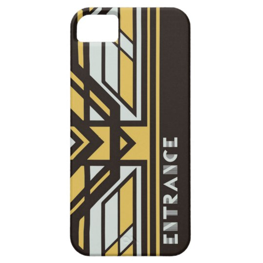 iPhone case SE/5/5s (Black)[Art Deco] iPhone SE/5/5s ケース