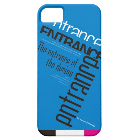 iPhone case SE/5/5s (Blue)[Grid] iPhone SE/5/5s ケース