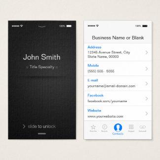 iPhone iOSのスタイル-シンプルで一般的な白黒 名刺