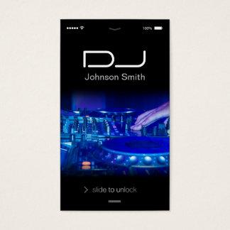 iPhone iOSのスタイル-音楽Djを傷付けるターンテーブル 名刺