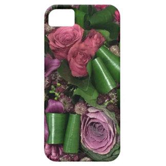 iPhone SE + iPhone 5/5S、ピンクおよび薄紫の花 iPhone SE/5/5s ケース