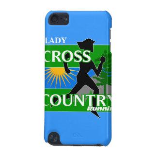 iPod SpeckのTouchの場合を走る女性クロス・カントリー iPod Touch 5G ケース