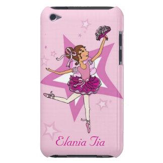 ipod touchの場合と示される女の子のバレリーナの黒い髪 Case-Mate iPod touch ケース