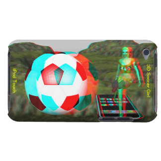 ipod touchの穹窖3Dのサッカーの女の子 Case-Mate iPod Touch ケース