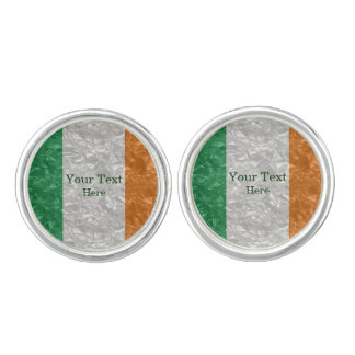 Ireland Flag - Crinkled カフリンクス