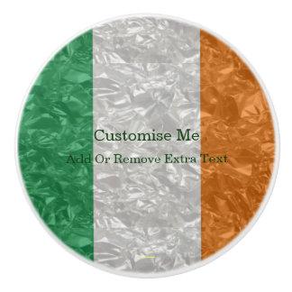 Ireland Flag - Crinkled セラミックノブ