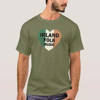Irlandのハートのフォーク・ミュージック Tシャツ