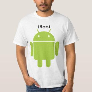 iRootのアンドロイドの電話 Tシャツ