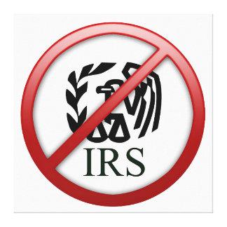 IRSの国税庁税を終えて下さい キャンバスプリント