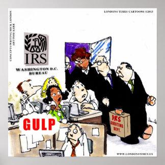 IRSはIRSのおもしろいなポスターを監査します ポスター
