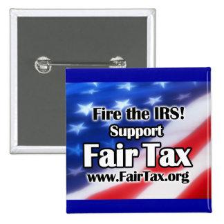 IRSを始動させて下さい! 公平な税ボタン 5.1CM 正方形バッジ