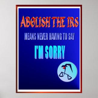 IRSを廃止して下さい ポスター