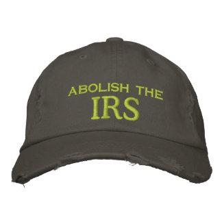、IRS廃止して下さい 刺繍入りキャップ