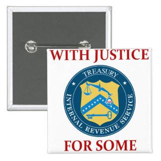 IRS: いくつかのための正義を使って 5.1CM 正方形バッジ