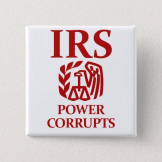 IRS: 力は買収します 5.1CM 正方形バッジ