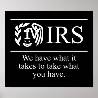 IRS $24.95のグラフィックアートの壁 ポスター
