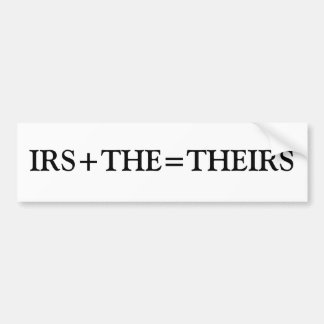 IRS+THE=THEIRS バンパーステッカー