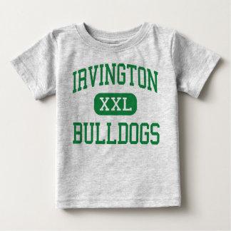 Irvington -ブルドッグ-高Irvingtonニューヨーク ベビーTシャツ
