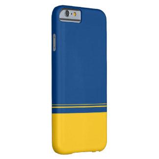 Irwinの青および黄色の色彩の配合のiPhone6ケース Barely There iPhone 6 ケース