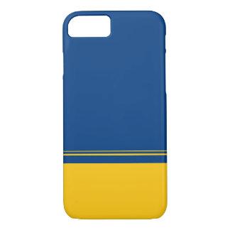 Irwinの青および黄色の色彩の配合のiPhone 7の箱 iPhone 8/7ケース