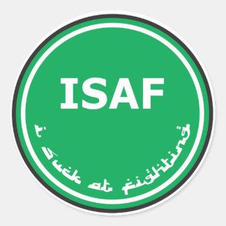 ISAFのロゴ ラウンドシール
