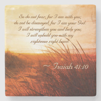 Isaiah 41:10 Bible Verse Do not fear I am with you ストーンコースター