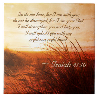 Isaiah 41:10 Bible Verse Do not fear I am with you タイル