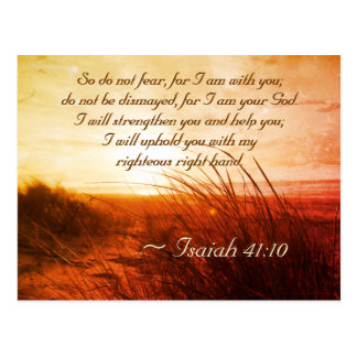 Isaiah 41:10 Bible Verse Do not fear I am with you ポストカード