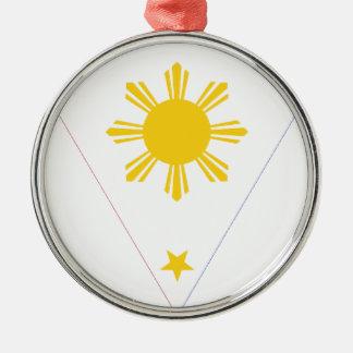 Isangのフィリピン- Tatlong Bituinの旗 メタルオーナメント