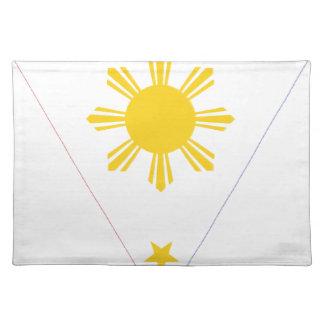 Isangのフィリピン- Tatlong Bituinの旗 ランチョンマット