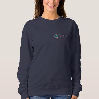 ISBの女性の海軍スエットシャツ-小さいロゴ スウェットシャツ
