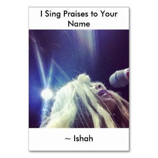 IshahのIつはあなたの一流のテーブルカードに賞賛を歌います カード