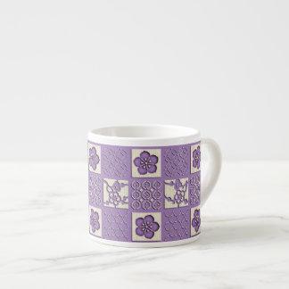 Ishidatami日本語によって点検されるパターンプラム花 エスプレッソカップ