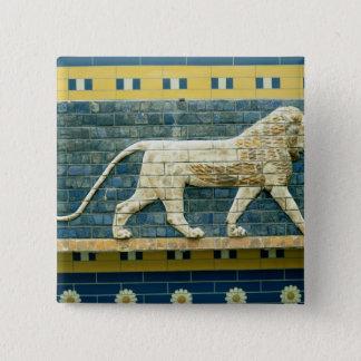 Ishtarを表しているライオン 5.1cm 正方形バッジ