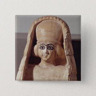 Ishtar、身に着けているaの彫像の頭部 5.1cm 正方形バッジ