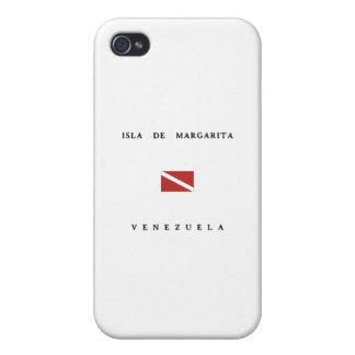 Isla Deマルガリータベネズエラのスキューバ飛び込みの旗 iPhone 4/4S カバー