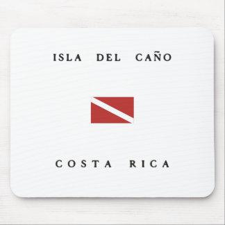 Isla Del Canoコスタリカのスキューバ飛び込みの旗 マウスパッド